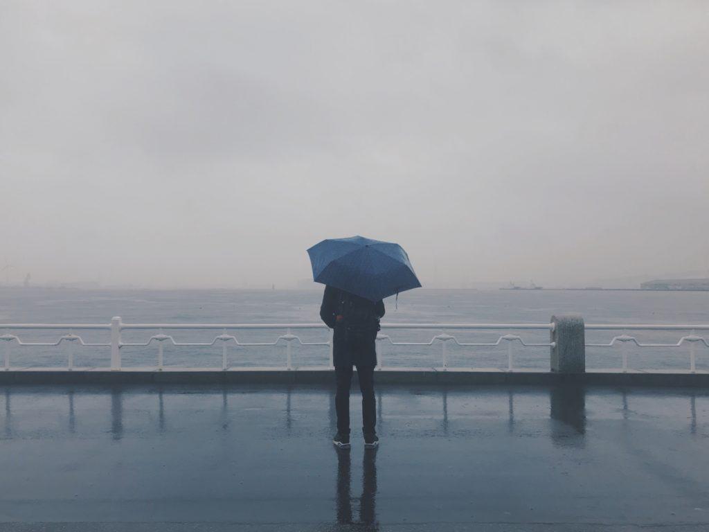 雨の日の水温低下に注意